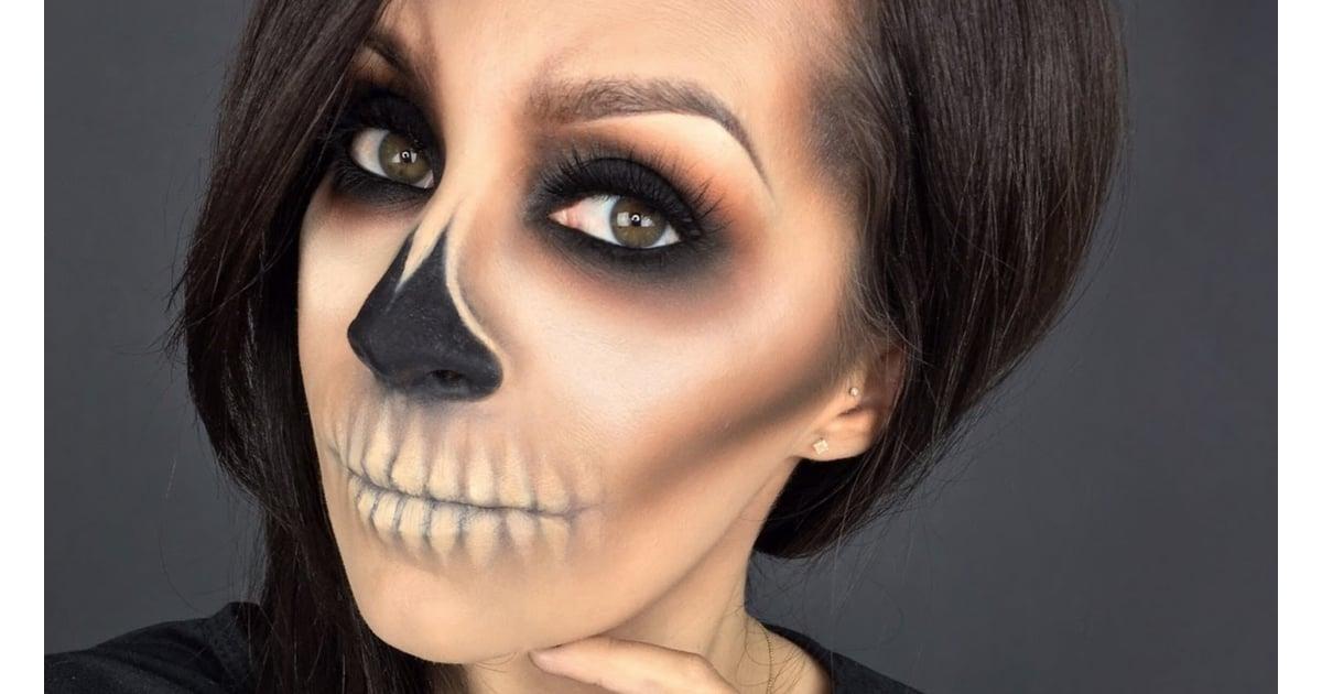 Skeleton halloween makeup look