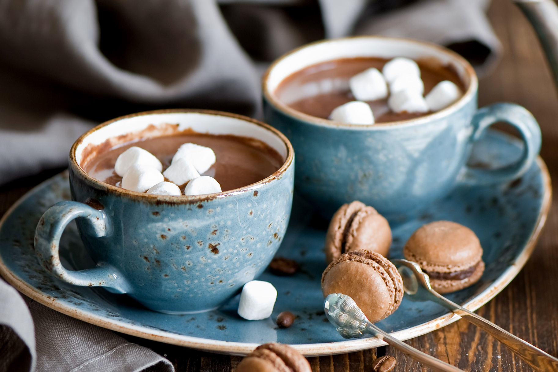 hot chocolate with fluffy marshmallows
