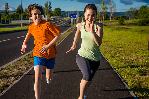 running free is a fitness routine