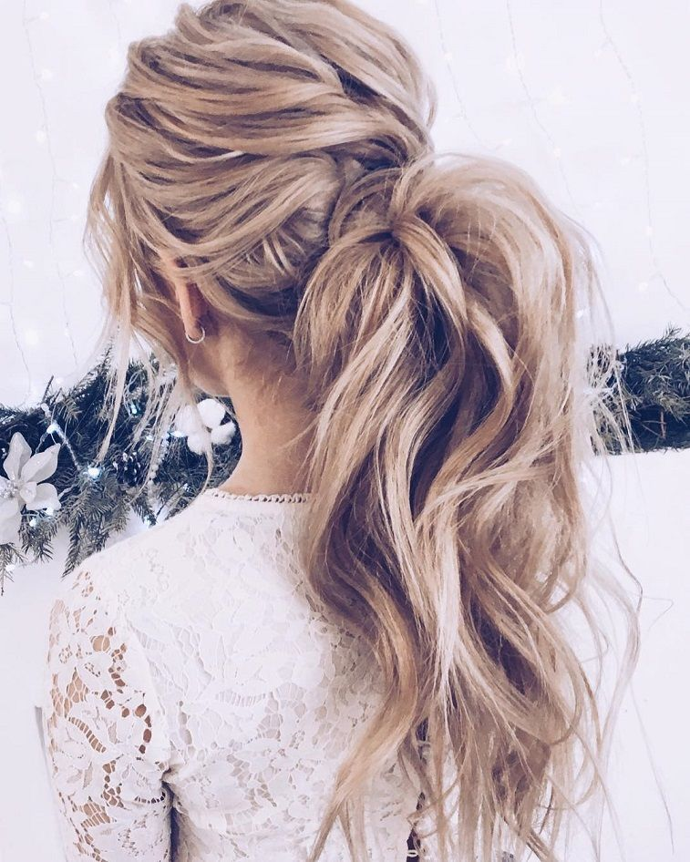 messy ponytail hairstyles for women 2020